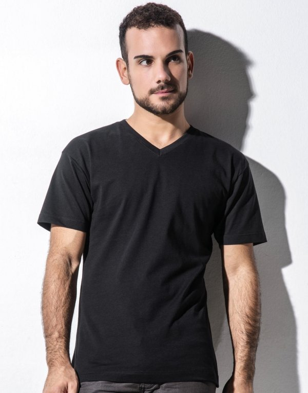 James Men`s Organic V-Neck T-Shirt