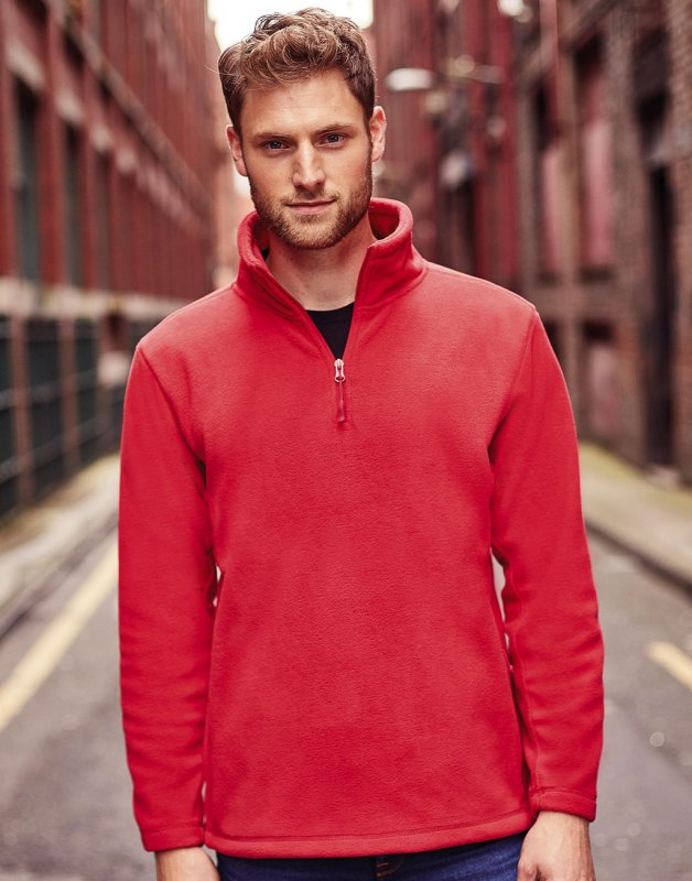 Rusell ADULTS 1/4 ZIP OUTDOOR FLEECE