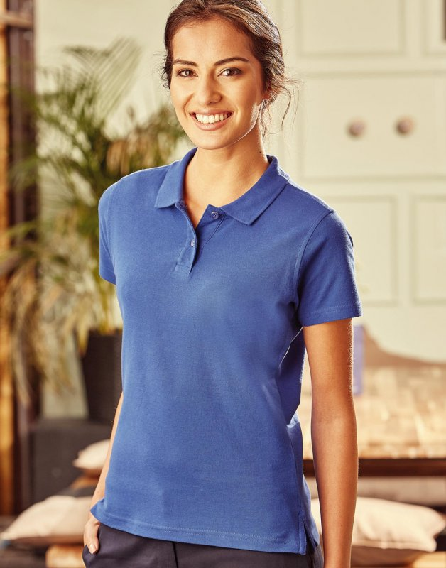 Damen Poloshirt, Russell Ultimate Cotton