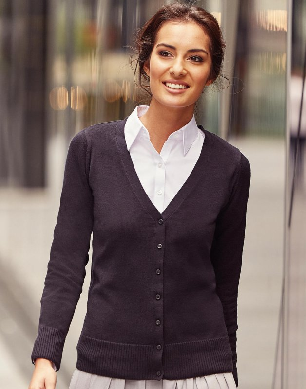 Rusell LADIES V-NECK CARDIGAN