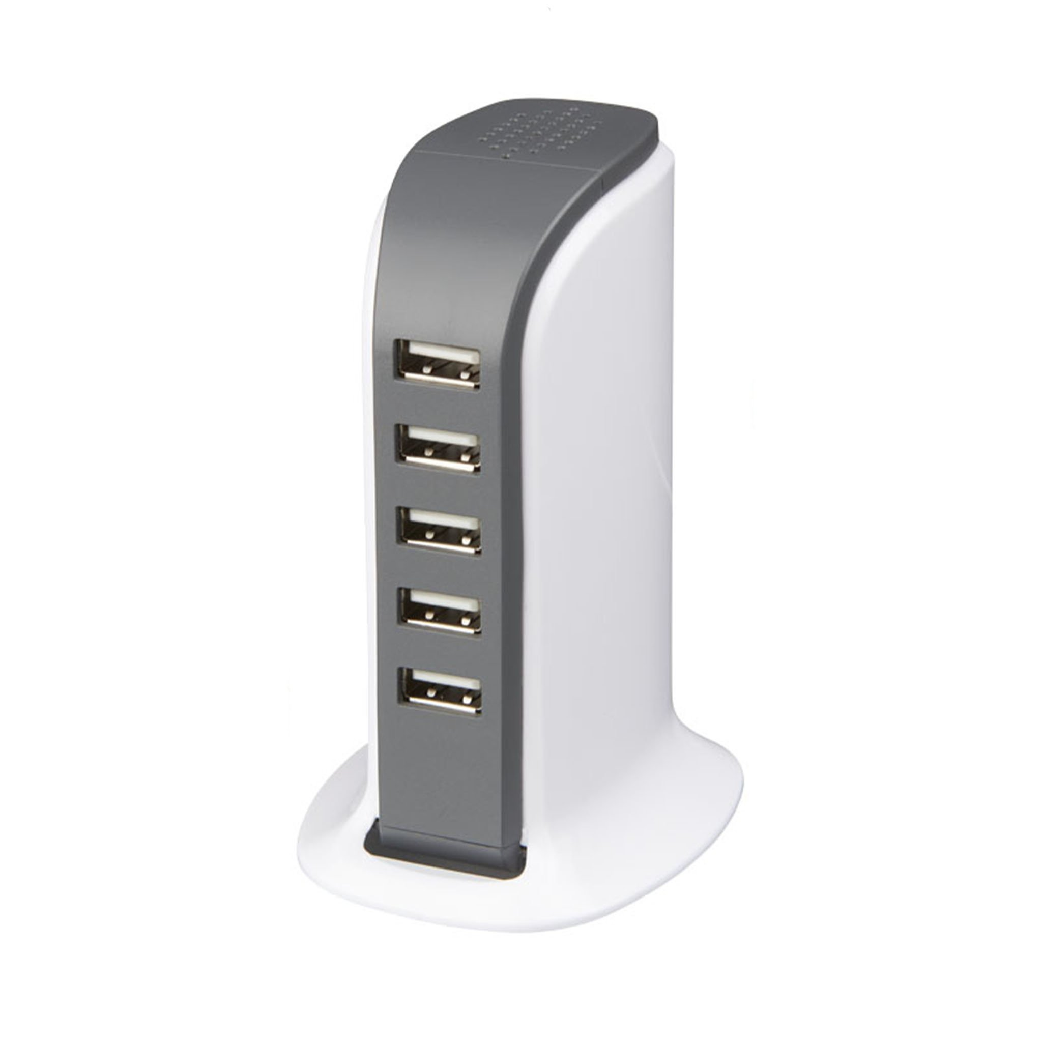 Tower desktop AC adapter with 5 USB ports